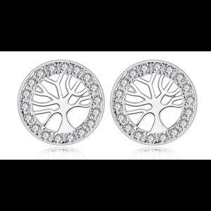 """Tree of Life"" stud earrings"